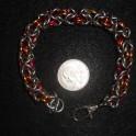 USMC Stainless Steel Mix Byzantine Bracelet